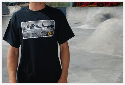 A man wearing a t-shirt that is for sale